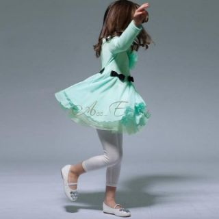Kid Girl Flower Top Party Dress Bow Waist Chiffon Tutu Pegeant Costume 1 6 Years