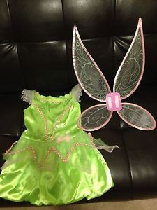 Disney Tinkerbell Child Toddler Girl Halloween Costume Size 2 3 T
