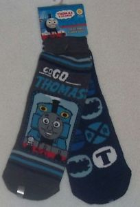 Boys Youth Thomas Train Non Skid Slipper Socks Set 2 Assorted Kids Sizes New