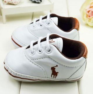 Soft Sole White Crib Baby Boys Shoes Winter Toddler Sneaker First Walker PO04