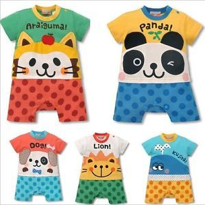 Lovely Animal Prints Baby Boy Girl Kid Romper Jumpsuit Outfit Clothes Bodysuits