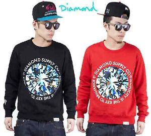 Mens Hip Hop Rap Diamond Supply Co Street Crewneck Inspired Hoodie Sweatshirt