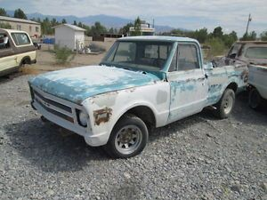 1967 72 Chevy GMC Short Bed Pick Up Truck in The Desert by Vegas Rat Rod