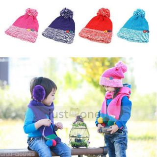 Lovely Baby Kids Toddler Child Boys Girls Unisex Sweet Warm Knit Beanie Hat Cap