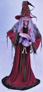 Helga Fortune Teller Animated Halloween Prop Decor Scary Haunted House Creepy