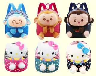 Cute Cartoon Baby Kids Boys Girl's Backpack Zoo Animal School Bags Shoulder Bags