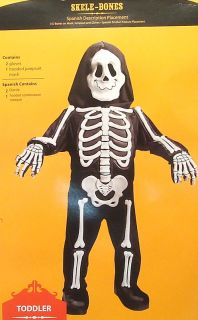 Skele Bones Toddler Child's Skeleton Halloween Costume