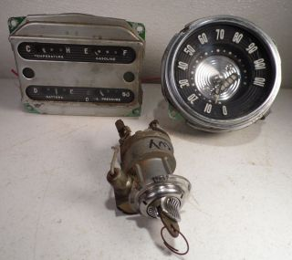 1953 Chevrolet Dash Gauges Rat Rod Belair 1954 Chevy 210 Custom Ignition Switch
