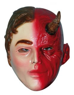 Scary Halloween Latex Head Face Mask Angel Demon