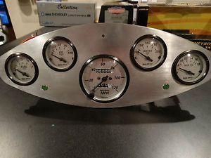 Custom Made Billet Aluminum Dash Gauge Panel Street Rod Custom Rat Rod Truck