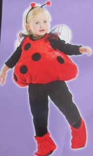 Toddler Girl's Ladybug Halloween Costume Size Toddler 12 to 24 Months New