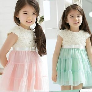 Baby Girls Kids Party Princess Fluffy Tutu Ruffle Tulle Dress 2 6Y Clothing