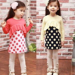 Baby Toddler Girls Kids Clothes 2 Pcs Set Dress Top Leggings 1 6Years Outfit