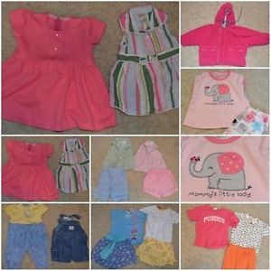 16 PC Lot Spring Summer Play Clothes Baby Girls Size 12 12 18 Months