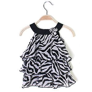 Baby Kid Girl Chiffon Dress Outfit Clothes Pettiskirt Tutu Zebra TYB1 XXXL