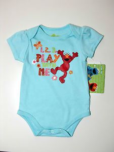 Sesame Street Elmo 2 Piece Set 0 3M Infant Baby Clothes Girl Boy