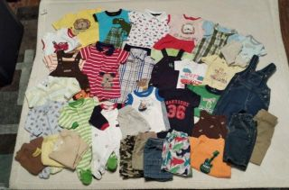 Newborn Infant Baby Boy 0 3 Months Clothes Summer Lot of 41 Pieces