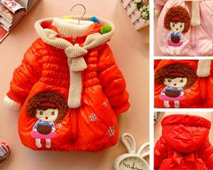 Baby Girls Kids Outer Clothes Coats Princess Snowsuit Jacket Outerwear Clothing