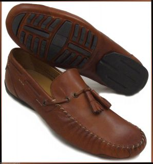 New Mens Casual Shoes Johnston Murphy Tan Leather Moccasin Made in Italy 11 M
