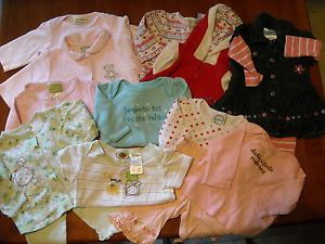 14 Piece Lot Baby Girls Fall Winter Clothes Sz 0 3 Months