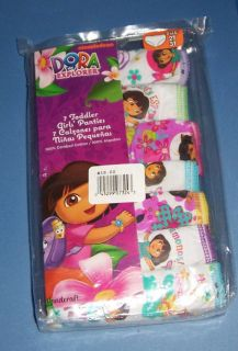 Dora The Explorer Kids 7 Cotton Panties NIP Underwear Toddler Girls Size 2T 3T