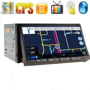 Car Am FM CD DVD GPS Navigation Bluetooth USB 2 DIN CD Stereo Player iPod Radio