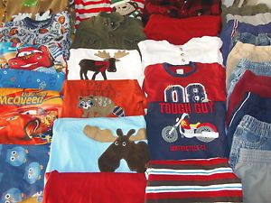 Huge 29pc Baby Toddler Boy Fall Winter Clothes PJs Lot 18M 24M 2T Gymboree Cars