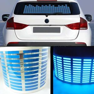 70 16cm Sound Activated Music Rhythm Blue LED Light Lamp Car Sticker Equalizer H