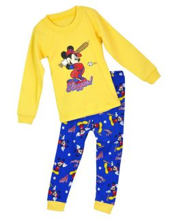 "Baby Toddler Clothing Kids Boys' Sleepwear ""Mickey Mouse "" Pajamas Set 2 7T"