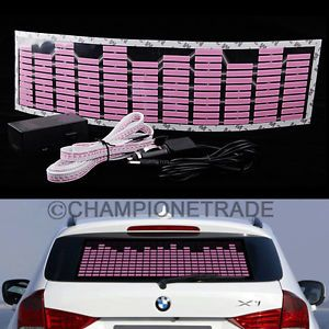 Pink Car Music Rhythm LED Flash Light Lamp Sticker Sound Equalizer Decorative