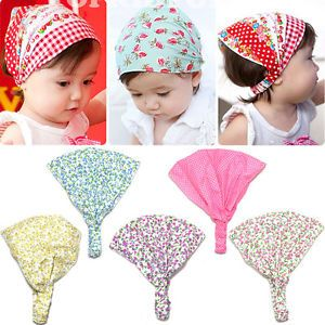 1pc Cotton Kid Girl Baby Floral Headband Hair Band Accessory Headscarf Bandana