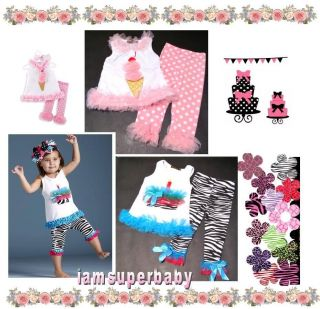 Toddler Girl 2pcs Zebra Pink Dot Tank Pant Set 2 4Y
