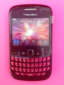 Virgin Mobile Blackberry Curve 8530 Cell Phone Black Pink WiFi Curve 2 CDMA