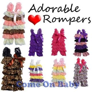 Newborn Infant Baby Girl Lace Posh Petti Ruffle Rompers One Piece Jumpsuit 0 3Y