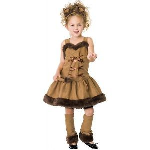 Cuddly Lion Child Toddler Girls Animal Cat Fancy Dress Halloween Costume