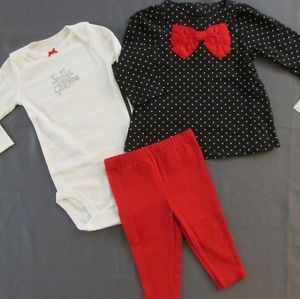 Infant Baby Girls 6 Months Clothing Carters Lot Shirt Pants Bodysuit
