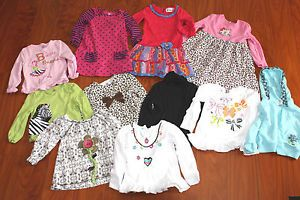 Huge Baby Girl Toddler Kids 3T Fall Winter School Clothes Outfits Lot