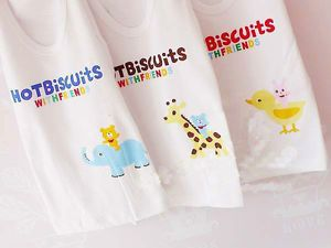 Cute Baby Kids White Clothing Apparel Vest T Shirt 80 90 95cm 3 Animal