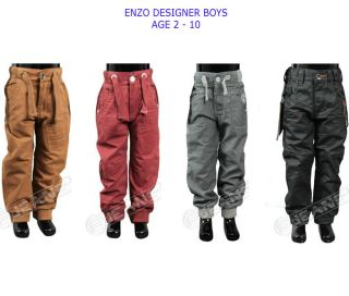 Babies Toddlers Kids Boys Cuffed Denim Jogger Jeans Clothing Enzo Premium Denim