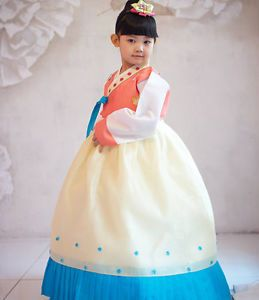 Age8 10 Korean tranditional Clothes HANBOK Soosun Dress Kids Baby Girl Children