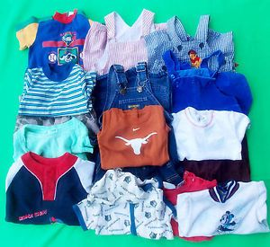 17pcs Nike NBA Pooh etc Cute Baby Boy's Summer Clothing Mixed Lots Size 6 9M