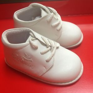 Baby Boy White Leather Christening Baptism Shoes Size 19 US Size 4 5