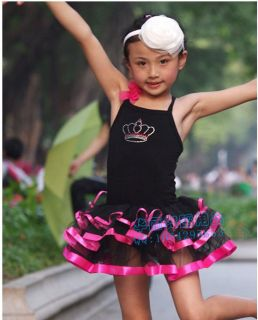 New 2color Girls Ballet Costume Tutu Skirt Gymnastics Leotard Dance Dress Sz 5 8