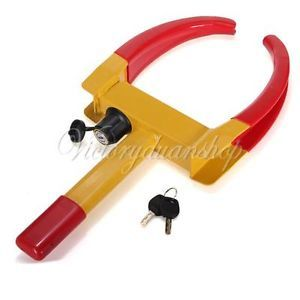 Car Wheel Tire Lock Clamp Parking Illegal Towing Auto Boat Trailer Anti Theft