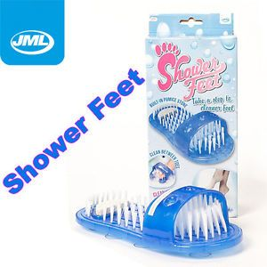 JML Shower Feet Foot Washes Clean Scrubs Cleaner as Seen on TV Easy Feet Brush