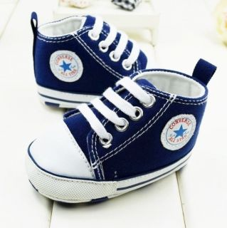 Baby Boy Girl B Converse Infant Sneaker Crib Shoe 3 6 6 9 9 12 Months Size 2 3 4