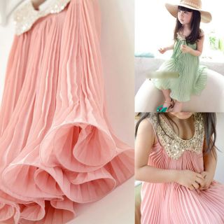 Bright Color Baby Girls Princess Chiffon Tutu Party Dress Sundress Wedding