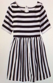 Baby Gap T Shirt Twirler Black White Stripe Dress Toddler Girls 2T 3T 4T 5T Yrs