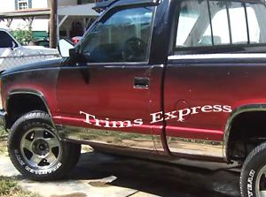 1988 1998 Chevy GMC C K Pickup Regular Cab Short Bed Rocker Panel Trim 10P 6 25""