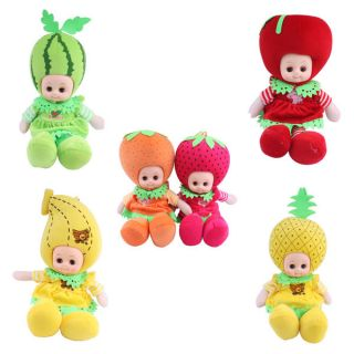 Genuine Fruit Vegetable Doll Baby Smart Speaking Music Toy Handmade Clothes